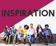 Étudiant universitaire Start vers le haut de concept d'inspiration Photos stock