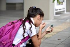 Étudiante de l'adolescence And Cosmetics images libres de droits