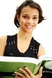étudiante de livre d'adolescent Photos stock