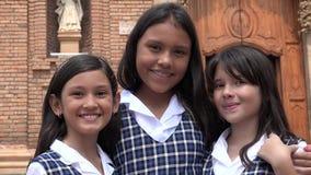 Étudiantes et amitié catholiques mignonnes Images stock