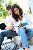Étudiants à l'étude d'université Photos stock