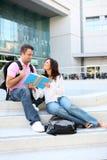 Étudiants à l'étude d'université Photo libre de droits