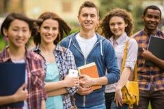 Étudiants à l'extérieur Image libre de droits
