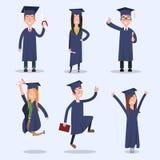 Étudiants à l'université de plat Image stock