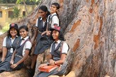 Étudiants au palais d'été de Sultan Tipu images libres de droits
