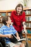 Étudiants avec des invalidités Images stock