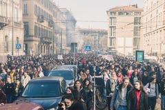 Étudiants célébrant le jour international du ` s de Wome Photos libres de droits