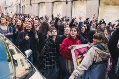 Étudiants célébrant le jour international du ` s de Wome Images libres de droits