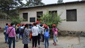 Étudiants chinois visitant les reliques culturelles Photos libres de droits
