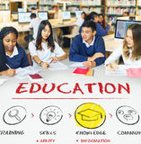 Étudiants d'intelligence d'éducation apprenant le concept Photo stock