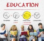 Étudiants d'intelligence d'éducation apprenant le concept Photographie stock