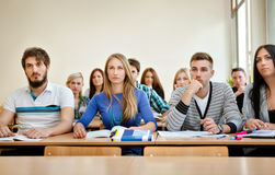 Étudiants dans la classe Photos libres de droits