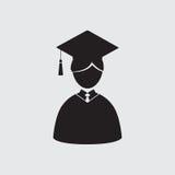 Étudiants dans la robe et la taloche d'obtention du diplôme Image stock