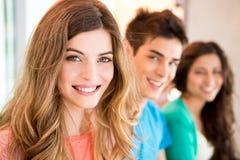 Étudiants dans le campus Photo stock
