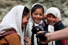 Étudiants de Balti dans Ladakh, Inde Photographie stock