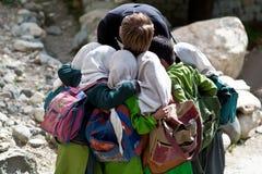 Étudiants de Balti dans Ladakh, Inde Photo stock