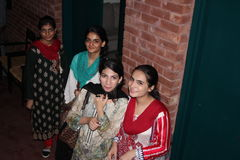Étudiants de media au Pakistan Images stock