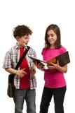 étudiants du relevé de livre Images stock