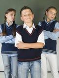 étudiants fiers Photo stock