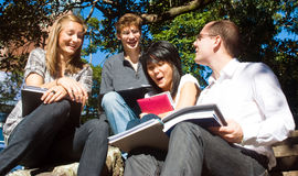 Étudiants heureux Images stock