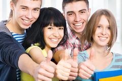 Étudiants heureux photo stock