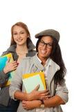 Étudiants heureux avec des livres Image libre de droits