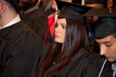 Étudiants le de remise des diplômes Photo libre de droits
