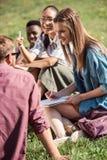 Étudiants multi-ethniques étudiant ensemble Image stock