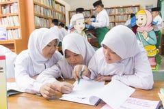 Étudiants musulmans Image libre de droits