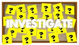 Étudiez les indices de recherche résolvent le mystère Images stock