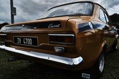 Événement classique de voiture de vintage de Ford Escort Image stock