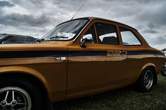 Événement classique de voiture de vintage de Ford Escort Photos libres de droits