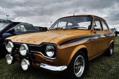 Événement classique de voiture de vintage de Ford Escort Photo libre de droits