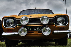 Événement classique de voiture de vintage de Ford Escort Images libres de droits