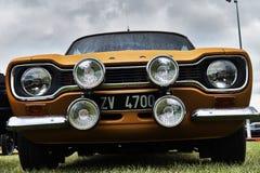 Événement classique de voiture de vintage de Ford Escort Photos stock