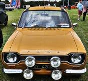 Événement classique de voiture de vintage de Ford Escort Photographie stock