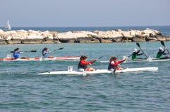 Événement de bateau de rangée à Bari, Italie photo stock