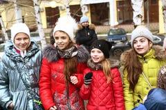 Événement de célébration de Noël pour des enfants Images libres de droits