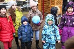 Événement de célébration de Noël pour des enfants Image libre de droits