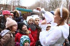 Événement de célébration de Noël pour des enfants Photos libres de droits
