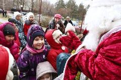 Événement de célébration de Noël pour des enfants Photos stock