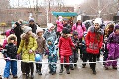 Événement de célébration de Noël pour des enfants Photo stock