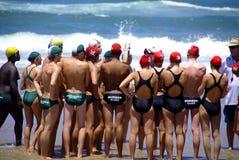 Événement de défi de maître nageur de Kwazulu Natal Image stock