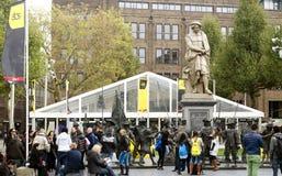 Événement de danse de QG Amsterdam sur Rembrandtsquare image libre de droits