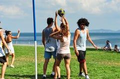 Événement de Korfball d'été à Istanbul Photo stock