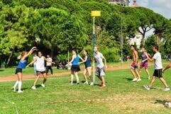 Événement de Korfball d'été à Istanbul Images libres de droits