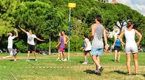 Événement de Korfball d'été à Istanbul Photographie stock