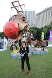 Événement de Mardi Gras Arts en parc en Hong Kong Images libres de droits
