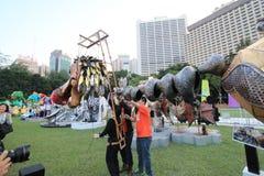 Événement de Mardi Gras Arts en parc en Hong Kong Photo libre de droits