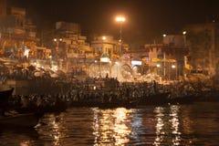 Événement de nuit Puja Images stock